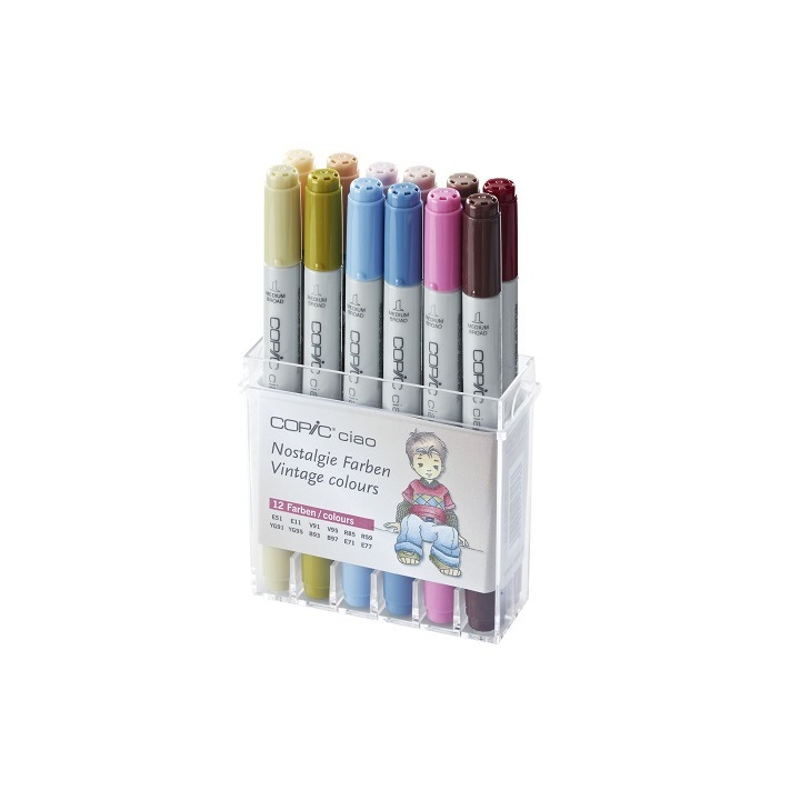 Markeri COPIC Ciao Vintage Colours - set 12 kom