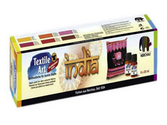 Set boja za tekstil INDIA 6x20ml