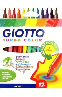 Flomasteri GIOTTO TURBO COLOR / 12 boja