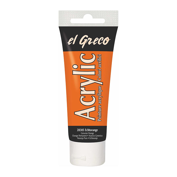 Akrilna boja El Greco 75 ml Genuine Deep Orange
