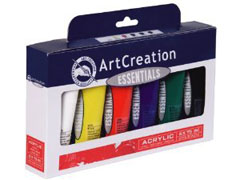 Set akrilnih boja ArtCreation ESSENTIALS 6 x 75 ml