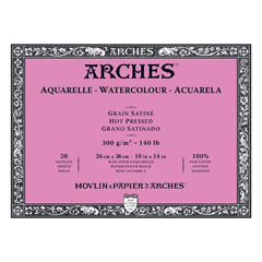 Blok ARCHES® Aquarelle Watercolour Hot Pressed - 36 x 51 cm