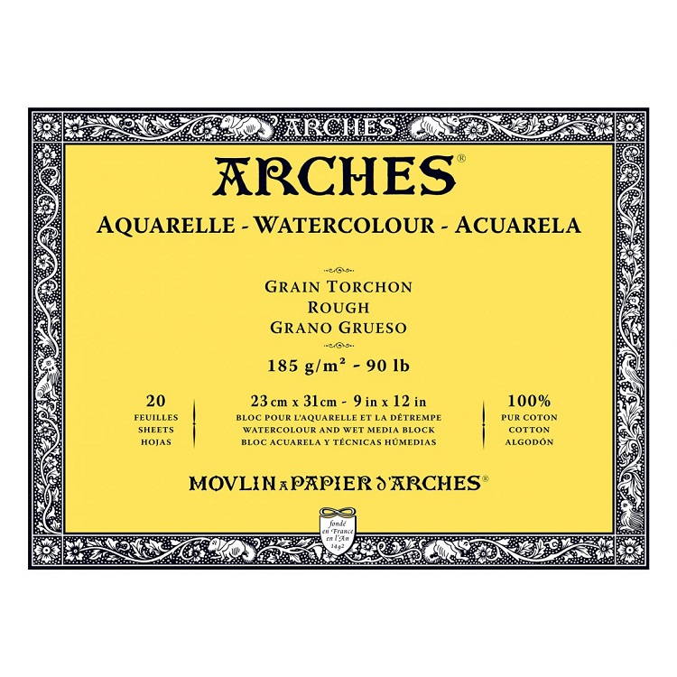 Blok ARCHES® Aquarelle Watercolour Rough - izaberite format