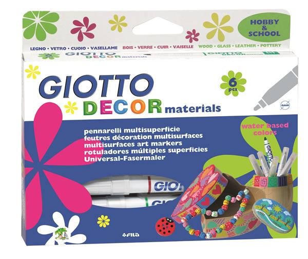 Dekorativni flomasteri GIOTTO Decor materials / 6 djelni set