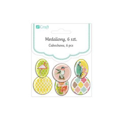Samolepljivi medaljoni Tropical Dreams / 6delni set