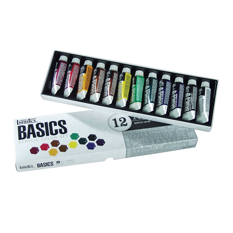 Set akrilnih boja Liquitex Basics - 12x22 ml
