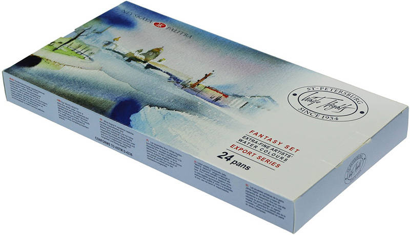 Set profesionalnih akvarela White Nights Fantasy - 24x2.5ml
